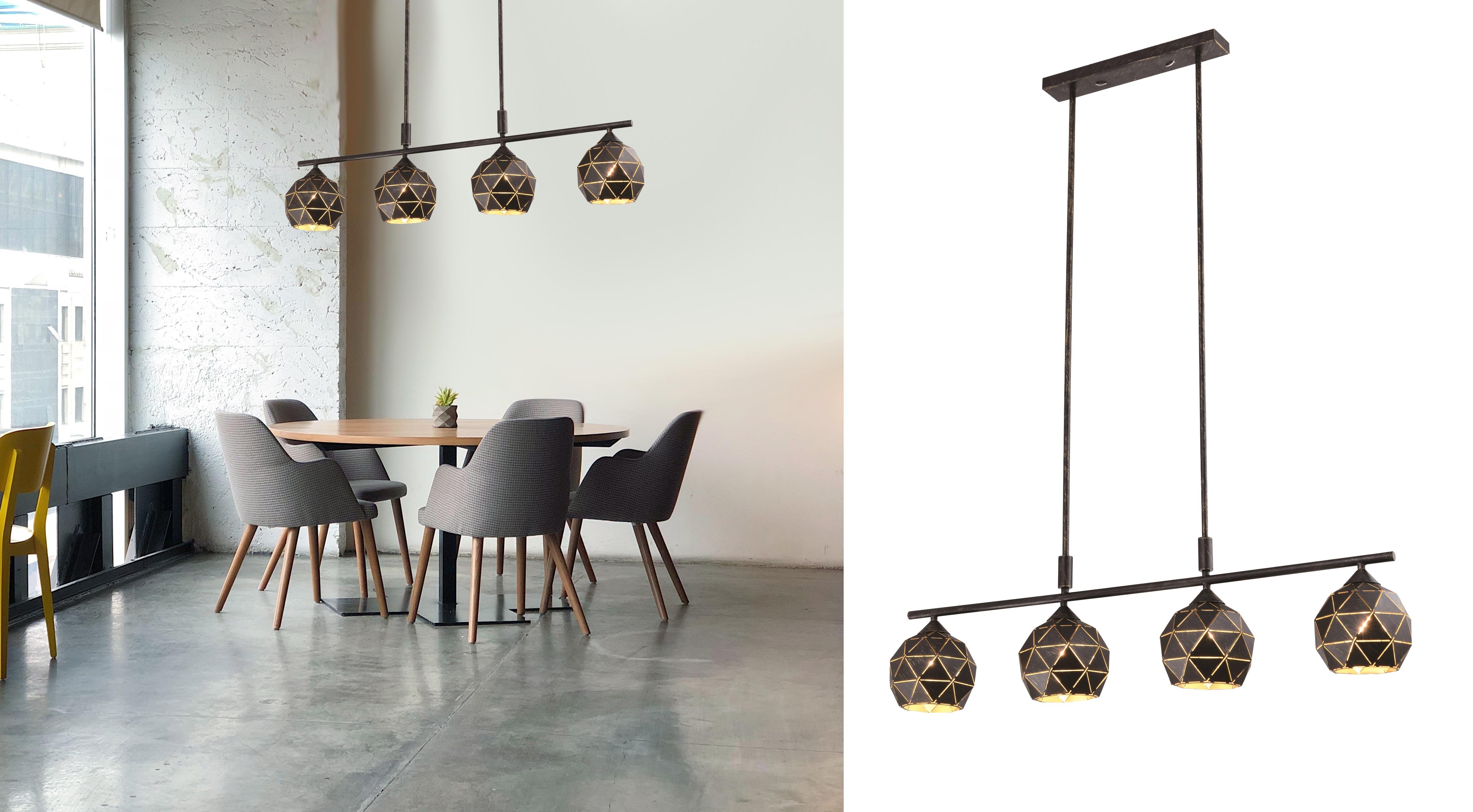 nowoczesna lampa wisząca dekoracyjna w aranżacji