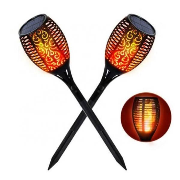 Lampa Ogrodowa Solarna Wbijana - Efekt Pochodni, Płomienia